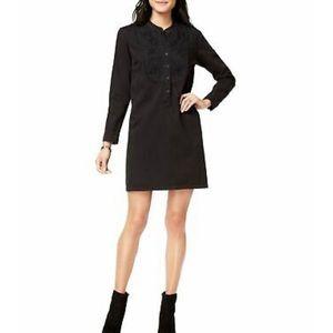 Lucky Brand embroidered denim shirt dress size S